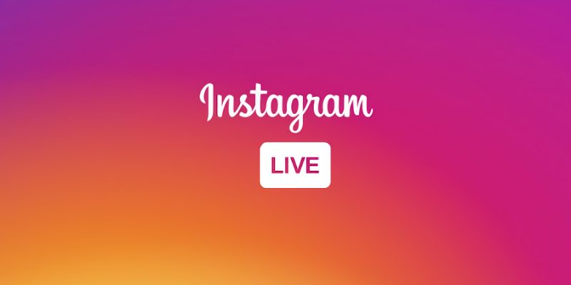 "Instagram logo appears with the ""Live"" icon."