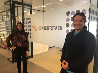 Contentstack founders at their office
